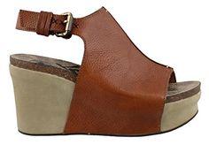 OTBT Women's Jaunt Wedge Shoe (6 B(M) US, Mocha) OTBT