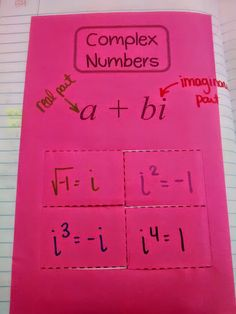 Complex Numbers Foldable