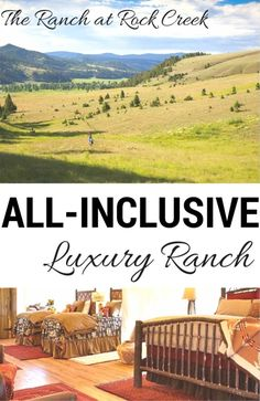 Add this to your travel bucket list! The Ranch at Rock Creek--All inclusive ranch vacation.