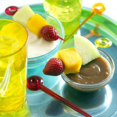 Fruit Skewers with Caramel Dip   Fun Finger Foods for Kids   Food   Disney Family.com#Fruit Skewers with Caramel Dip;2#Fruit Skewers with Caramel Dip;2