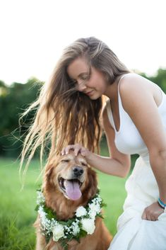 DIY dog colar for portraits,  a Girls Best Friend: portraits with your Pup : Love Carmen Rose senor portraits with your pet