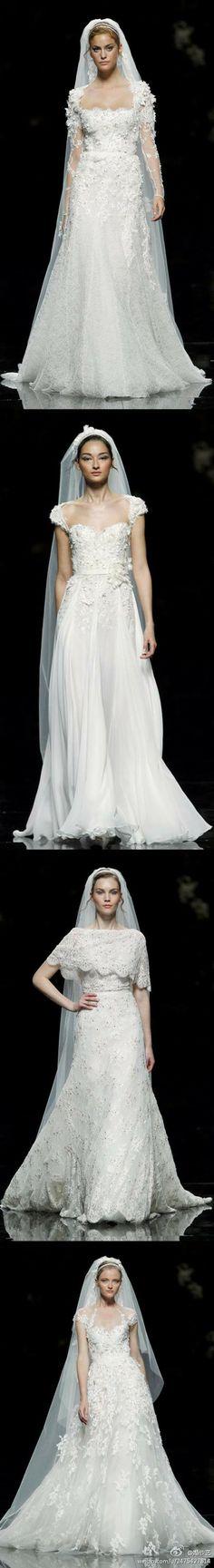 Quatro super lindo vestido de noiva de Renda, Véu de Renda de Longo, o laço bordado ...