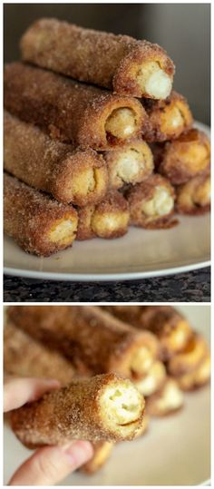 Cinnamon Cream Cheese Roll-ups - a simple and quick breakfast treat the whole family will love { lilluna.com }