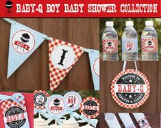 BBQ Baby Shower Decorations, Baby Q Decorations, Baby Boy Shower, Co-ed Baby Shower, Couples Baby Shower, Printable Pdf Files