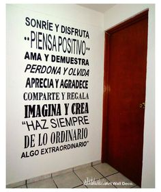 Para el cuarto de los niños pero multicolor My Room, Slogan, B & B, Me Quotes, Inspirational Quotes, Positivity, Lettering, Thoughts, Motivation