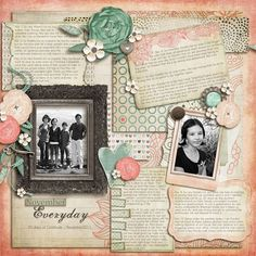 Love her scrapbooking pages!