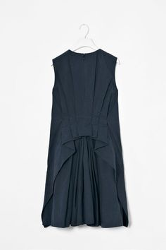 COS image 3 of Pleated back dress in Blue