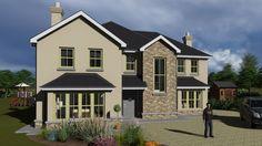 dorm050 Country House Design, Bungalow House Design, House Front Design, Square House Plans, Metal House Plans, Modern Brick House, House Designs Ireland, House Plans South Africa, Bungalow Exterior