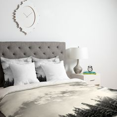 Bird Wanna Whistle White Mountain Duvet Cover | DENY Designs Home Accessories