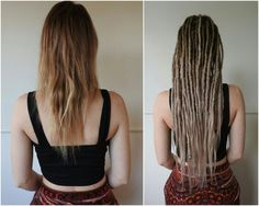 thin dreads - If I had dreads this would probably be it. I'd also add some dread falls and whatnot because I have thin hair. :-/
