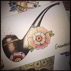 Pipe and flower