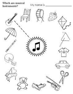 instrument worksheets for kids