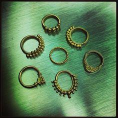 Our Custom gold piercing line  https://www.facebook.com/forbiddenfruitjewelry