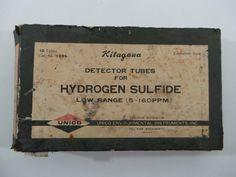 Vintage In Box KITAGAWA Unico Low Range Gas Detector Tubes Hydrogen Sulfide 120B
