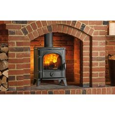 Traditionally styled cast iron compact wood burning stove from The Little Stove Shop in West Malling, Kent Thornton Heath, Multi Fuel Stove, Cast Iron Stove, Real Fire, Package Deal, Wood Burning, Lounge, Home Appliances