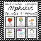 This bright and cheery cursive black & white chevron alphabet pack is both eye grabbing and includes 2 sizes of alphabet posters, 8.5 x 11 and ...