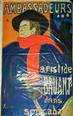 Henri Toulouse Lautrec Ambassadeurs Aristide Bruant 1892 Color Lithograph Poster
