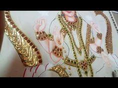 Tanjore Paintings in Telugu Indian Women Painting, Crown Braids, Tanjore Painting, Outline Drawings, Bhagavad Gita, Woman Painting, Telugu, Sketch, Language