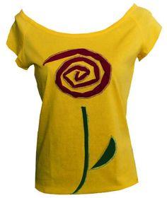 "Iza Fabian - SHIRT  "" RED FLOWER ""  von Iza Fabian Design  auf DaWanda.com"