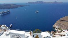 Santorini genel görünüş.