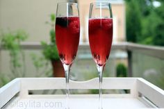 Easy to make recipe for kir royal, a classic french sparkling cocktail or aperitif made with champagne and blackcurrant liqueur.