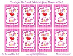 Candy Kiss Free Valentine Printables  Sandwich bags Free