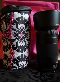 The Thirty-One Bring-A-Bottle Thermal is perfect for a 75-300 lens...the thermal padding protects it from bumps and cinches closed at the top! #getthisbag #thirtyone #photography