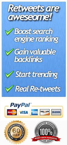 Retweets on Twitter are very valuable in terms of SEO and exposure possibilities. This site allows you to buy retweets