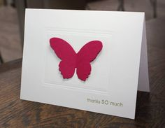 CAS01 Butterfly Thanks by lnl96 - Cards and Paper Crafts at Splitcoaststampers