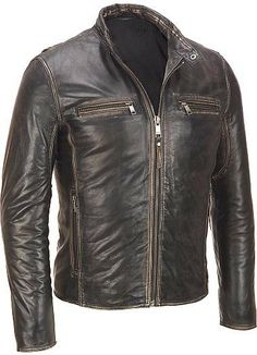 Men leather jacket men brown shaded leather by customdesignmaster, $169.99