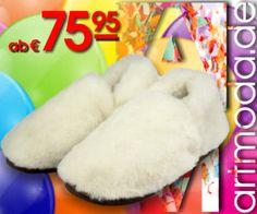 Kalte Füße vom #Rosenmontag - #Umzug? Unsere wärmste Empfehlung: AM artmoda Sophie - #Hausschuhe aus echtem #Lammfell in Größe 35 bis 42