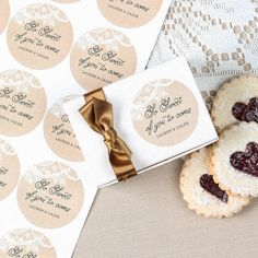 Mason jar stickers: 10$ per sheet. 20 stickers per sheet Personalized Round Wedding Labels by Beau-coup