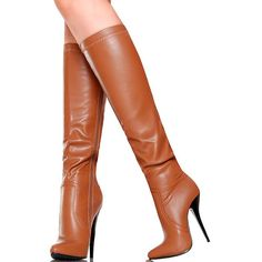 Ideas boots leather brown high heels for 2019 Brown High Heel Boots, High Leather Boots, Brown Boots, Knee Boots, Heeled Boots, Heel Boots For Women, Chanel Boots, Stiletto Boots, Sexy Boots