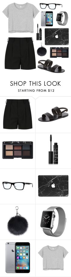 """""""A Little Casual"""" by tasha-m-e ❤ liked on Polyvore featuring Yves Saint Laurent, KYMA, NARS Cosmetics, Ray-Ban and Monki"""