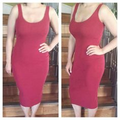 Dress Thick not see-thru dress.  Very comfortable.  Perfect for this weather. Dresses Midi