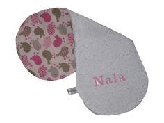 """Baby  Spucktuch  """" Name """" von me Kinderkleidung und ersatzbezuege auf DaWanda.com"""
