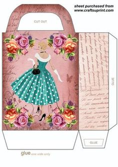 Thats 20s fashion gift bag,you will need to print 2 sheets to make the gift bag