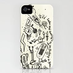 ladies and gentlemen we are floating in space iPhone Case by Mariana Beldi - $35.00