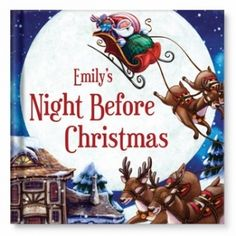 My Night Before Christmas Personalized Book- Customize this classic Christmas poem by Clement Clarke Moore with your child's name, town, favorite pet and more. Pick a special dedication message, upload your holiday photo, and even include your child on Santa's Nice List.
