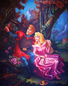Disney Princess Fan Art: Aurora and Phillip painting. Disney Princess Art, Disney Fan Art, Disney Love, Disney Princesses, Disney Kunst, Arte Disney, Disney Magic, Aurora Disney, Disney Pixar