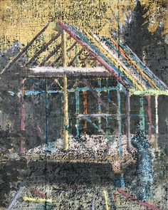 Another small version of this one oil on panel Happy Hippie, Cubic Foot, Painting Art, City Photo, Contemporary Art, Oil, House Styles, Building, Home Decor