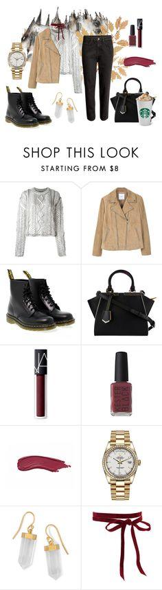 """#4"" by makeemwhistle on Polyvore featuring мода, Filles à papa, MANGO, Dr. Martens, Fendi, NARS Cosmetics, Kester Black, Rolex и BillyTheTree"