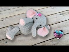 amigurumi elephant results - ImageSearch Amigurumi Elephant, Crochet Elephant Pattern, Crochet Animal Patterns, Stuffed Animal Patterns, Crochet Patterns Amigurumi, Baby Knitting Patterns, Amigurumi Doll, Crochet Diy, Crochet Bunny
