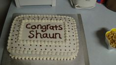 This was an 8th grade promotion cake for my nephew