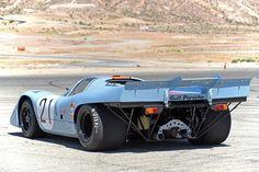 Porsche 917K Gulf Racing restaurée par Porsche Motorsport North America.