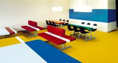 love the use of primary colors for a primary school...