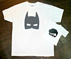 Batman and Robin Matching Dad and Son Shirts - New Baby,  Father and Son Set, Father's Day, Sidekick, Birthday, Superhero, Tshirt Onesie Tee