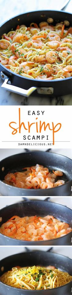 Ingredients   8 ounces linguine  2 tablespoons unsalted butter  1 pound medium shrimp, peeled a...