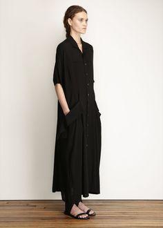 Yohji Yamamoto black York dress.
