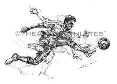 Vincent Ricasio's New Soccer/Futbol Art from The Art of  athletes Futbol  de temática fútbol.